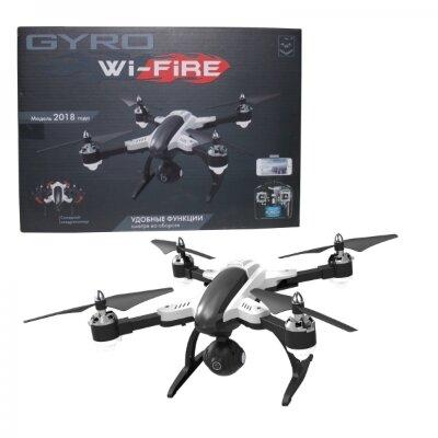 GYRO-WI-FIRE складной квадрокоптер 2,4GHz с Wi-Fi камерой 480p Встречайте новинку 2018! Модель обладает рядом уникальных фунцкций (Headless Mode режим, переворот 360°), которые значительно упрощают взаимодествие с квадрокоптером и делают полёт более увлекательным!