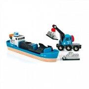 33534 Набор BRIO с кораблем, краном-погрузчиком и грузом