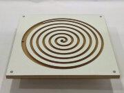 "Балансир-лабиринт  ""Спираль круглая"", (40х40см) с подставкой - опорой на липучке"