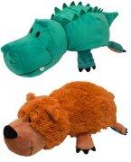 Игрушка вывернушка 2в1 Медведь-Крокодил, 40 см