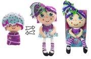 Девчушка-вывернушка Варюшка 2-в-1 кукла плюшевая, 23-38 см