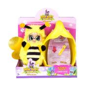 """Мягкая игрушка 1TOY Пушастик Пчелка Бри """"Bush Baby"""" со спальным коконом, заколкой и шармом"""