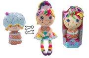 Девчушка-вывернушка Настюшка 2-в-1 кукла плюшевая, 23-38 см