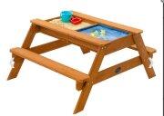 Стол для игр с песком и водой со скамейками+5 кг песка