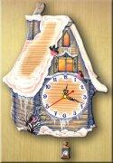 Часы настенные ИЗБУШКА зимняя