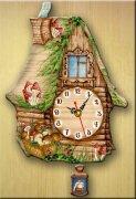Часы настенные ИЗБУШКА с грибами