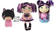 Девчушка-вывернушка Танюшка 2-в-1 кукла плюшевая, 23-38 см