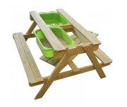 Стол для игр с песком и водой со скамейками и грифельной поверхностью + 5 кг песка