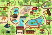 Игровое поле- крышка для планшета Зоопарк