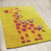 Детский дизайнерский ковер ЖИРАФ И ОБЕЗЬЯНКИ