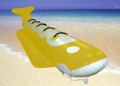 """Водный буксируемый аттракцион """"БАНАН"""", 3 вида Катание на банане – одно из самых популярных пляжных развлечений во всем мире. Если Вы, лёжа на пляже, видели это пролетающее по воде чудо, но так и не решились на нём покататься – никогда не поздно сделать это впервые!"""