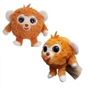 Дразнюка ZOO плюшевая оранжевая обезьянка, 13 см