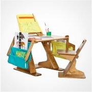 Комплект парта и стул (регулируемые по высоте и наклону)