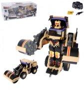 Робот-трансформер на р/у Строительный каток (свет, звук), 38 см