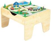 Стол-подставка для деревянной железной дороги