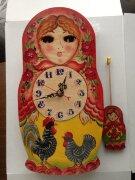 Часы-ходики Русские Традиции МАТРЕШКА