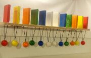 Тактильно-развивающая панель Разноцветное домино