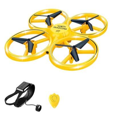Светящийся квадрокоптер дрон FIREFLY (управление жестами) Контролируйте движение квадрокоптера FIREFLY с помощью сенсора, закрепленного на вашей руке.  Вы буквально «чувствуете» каждое перемещение дрона. Благодаря этому создаётся ощущение, что Вы и дрон - одно целое, и управляется он силой вашей мысли!