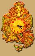 Детские часики волшебная Птица Сирин (с маятником)