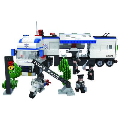 """Конструктор мобильный ШТАБ Полицейский спецназ, 536 дет. Конструктор ШТАБ серии """"Полицейский спецназ"""" позволит провести любую операцию по поимке преступников или даже целых банд, при помощи современной техники и разнообразных транспортных средств. Набор состоит из 536 деталей и 5 фигурок. Конструктор совместим с Lego! Рекомендованный возраст: 6+"""