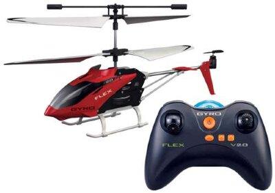 Радиоуправляемый вертолёт GYRO-Flex (с гироскопом) 18,5 см GYRO-FLEX является полным аналогом 109 модели. Вертолёт получился достаточно прочным и защищённым от критических повреждений при падении с высоты до 10 метров. Рекомендованный возраст: 14+